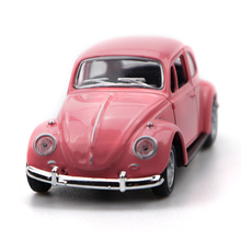 2 Doors-open Simulation car Model With Lights Classic Beetle Car 1967 Vehicle Pull Back 4 Colors