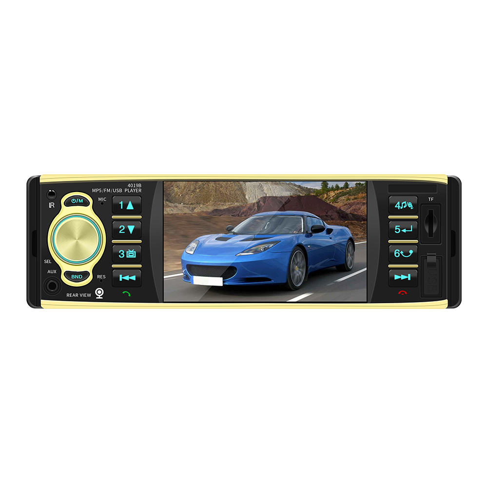 4019B 4.1 inch 1 One Din Car Radio Audio Stereo FM Radio Station Bluetooth Autoradio Support Rearview Camera Remote Control image