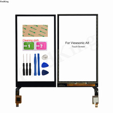 Touch Screen For Viewsonic A8 Touch Screen Front  Glass Digitizer Touch Panel Sensor Mobile Tools 3M Sticker