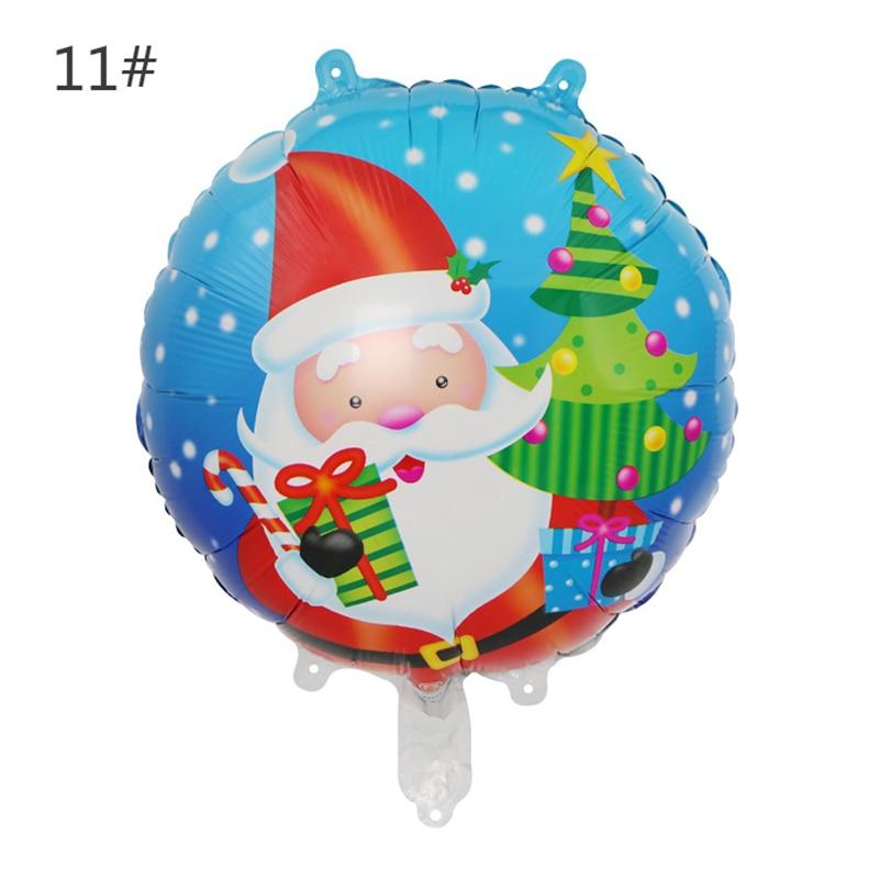 18 Inch Christmas Balloon Push Gift Christmas Party Aluminum Film Balloon Santa Claus Snowman Round Helium Balloon
