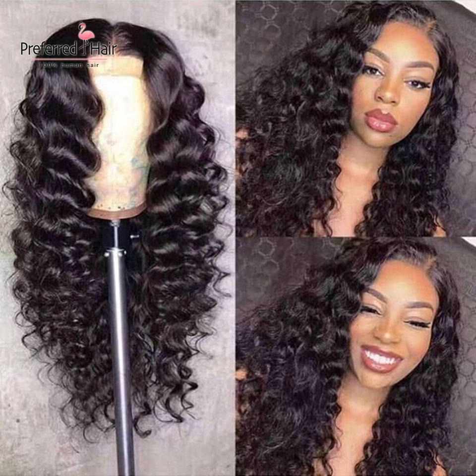 Preferred HD Transparent Lace Wig Human Hair 360 Lace Frontal Wig Brazilian Remy Deep Wave 13X6 Lace Front Wigs For Women