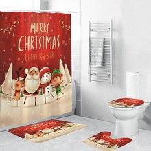 3d занавеска для душа с рождественским принтом, занавеска для ванной, занавеска для душа для ванной, водонепроницаемая занавеска для ванной, украшение для дома