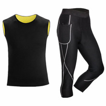 2019 Men's long johns Neoprene shapers underwear Set tracksuit compression sweat quick dry thermal fitness ski clothes