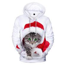 Милые рождественские Модные Удобные 3d толстовки Харадзюку осенние