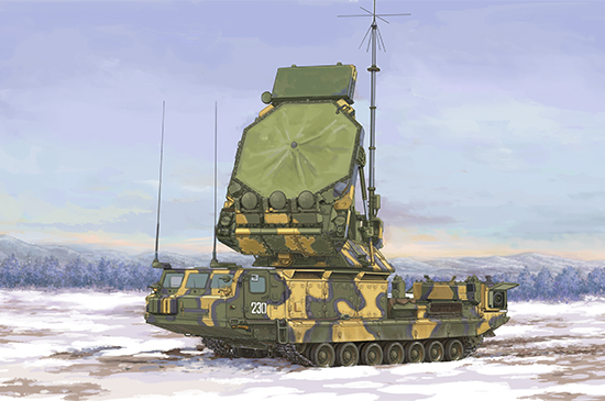 <font><b>Trumpeter</b></font> 1/35 09522 Russian 9S32 S-300V Grill Pan Surface-Air Missile Radar NEW image