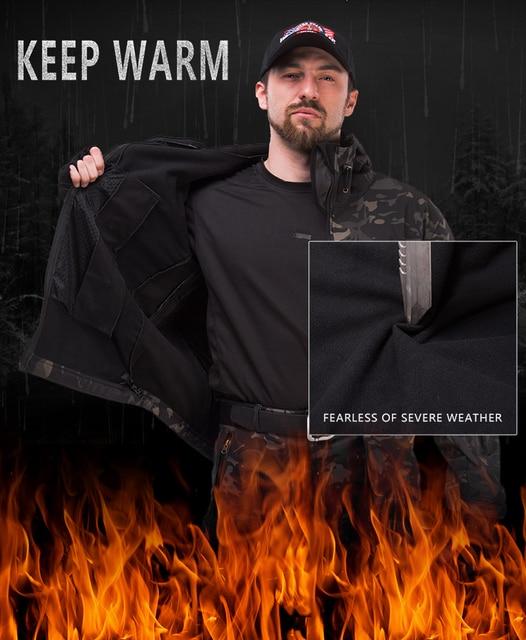 Army Waterproof Airsoft Hunting Clothes SoftShell Hunting Jacket Sets Tactical Jackets Pants Suit Shark Skin Military Coat Pants 6