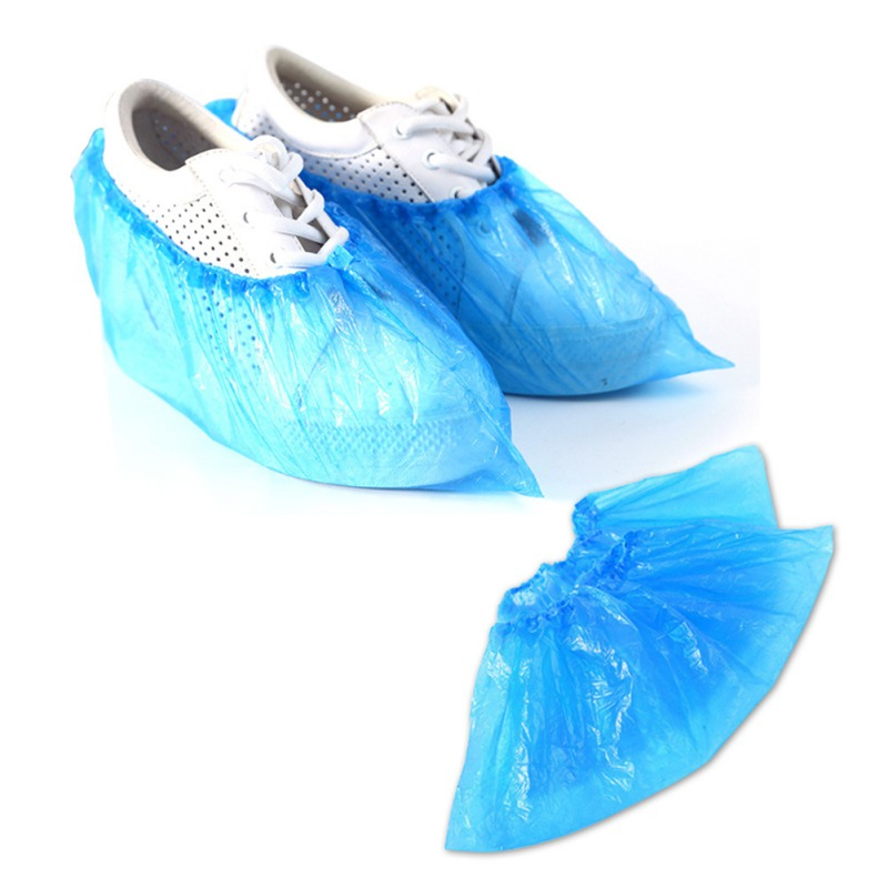 100pcs/pack Waterproof Boot Covers Plastic Disposable Shoe Dust Cover For Factories Homes Hospitality