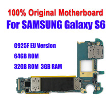 For Samsung Galaxy S6 edge G925F 32GB 64GB Official Phone Motherboard Unlock Whole Mainboard With Full Chips IMEI OS Logic Board