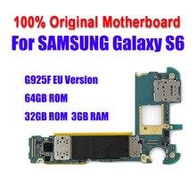 Материнская плата для Samsung Galaxy S6 edge G925F 32 Гб 64 ГБ, официальная разблокированная основная плата с полными ЧИПАМИ IMEI OS, логическая плата