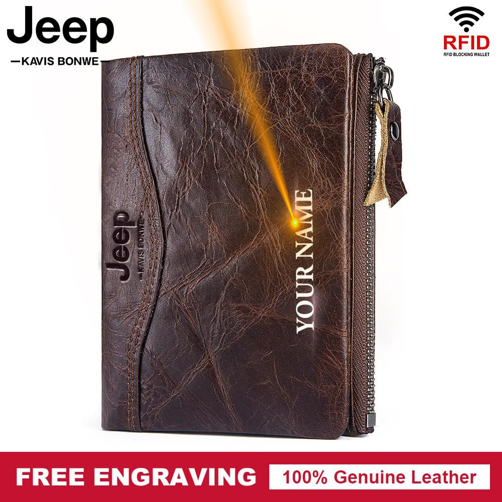 KAVIS Genuine Leather Wallet Men vintage Male wallets Coin Purse Money Bag