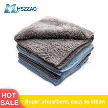 Wyjątkowo miękka myjnia samochodowa woskowany kryształowy ręcznik z mikrofibry ściereczki do czyszczenia osuszania samochodu szmatka do pielęgnacji samochodu Detailing myjka samochodowa nigdy nie Scrat