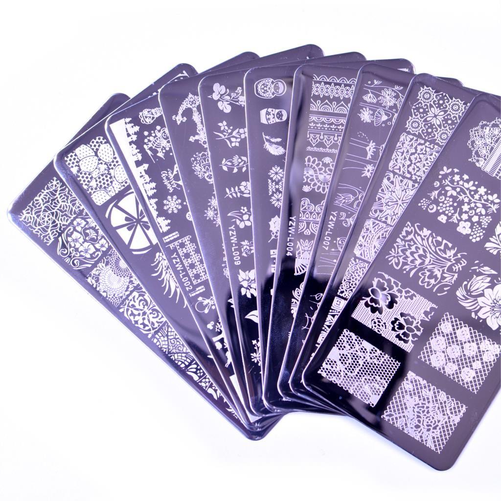Новинка 2020 года, шаблон для стемпинга ногтей с изображением цветка, мандалы, бабочки, пластины для стемпинга ногтей, инструменты для маникюр...