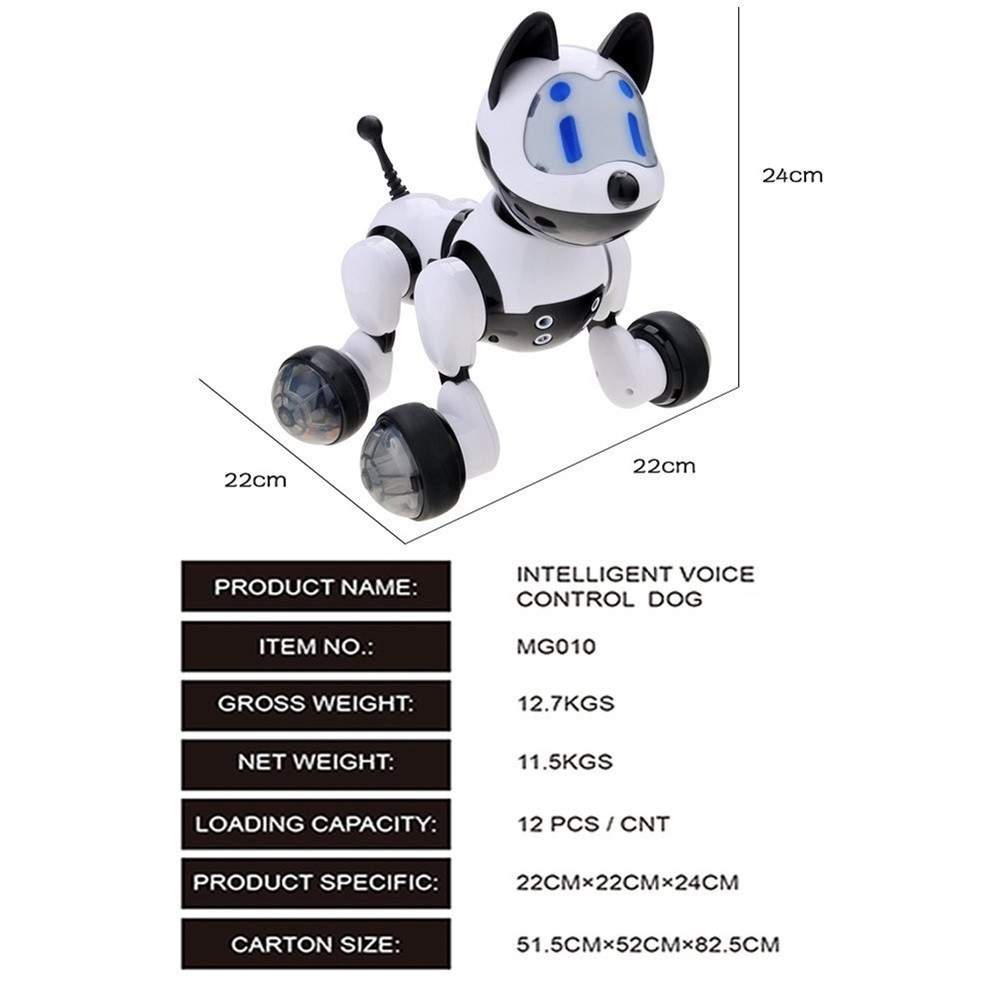 Voice Control Voice Activated Robot Dog Electronic Toy Interactive Doggy Robot Puppy Music LED Eyes Flashing Action Toy 4