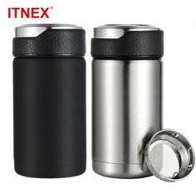 ITNEX 380ML Stainless Steel 304 Vacuum Flasks Thermos Mug Tea Infuser Coffee Mug Leak-Proof Travel Car Thermal Insulation Bottle