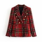 Tweed women red plai...
