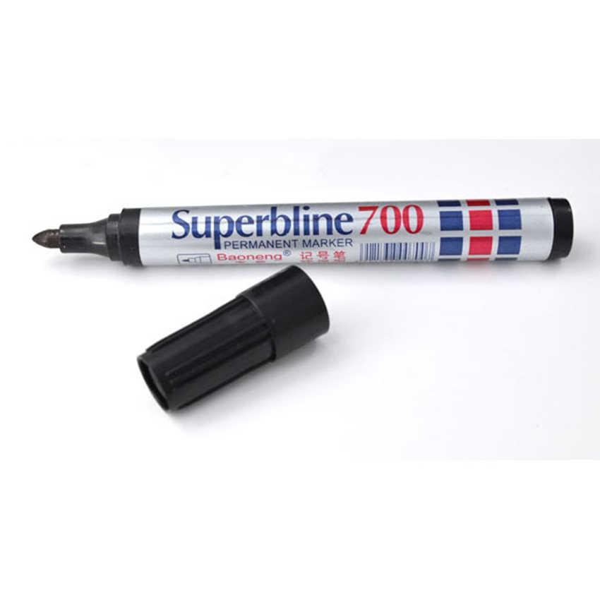 Impermeabile Permanente Marcatore Penna di Plastica Penna Inchiostro Della Penna Singola Testa Pennarello Grassa Riutilizzabile Grande Testa di Penna Firma Nero Rosso Blu di Colore