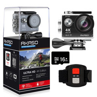 AKASO EK7000 4K WIFI Outdoor Action Camera Ultra HD Go Waterproof Cam Pro bike helmet Video Extreme Sports Moving Cameras Gift
