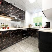 Marmor Vinyl Selbst Klebe Tapete für Badezimmer Küche Schrank Arbeitsplatten Kontaktieren Papier Wasserdicht Fliesen Aufkleber Home Decor-in Tapeten aus Heimwerkerbedarf bei