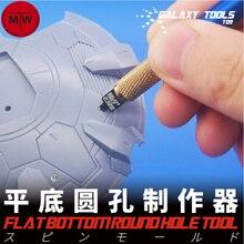 Galaxy Tools modelo de construcción de agujeros redondos, fondo plano, herramientas de modificación de aspecto de construcción con mango