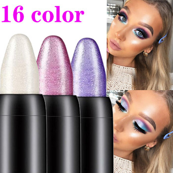 Pearlescent silkworm eyeshadow pen lasting waterproof and not blooming Shiny pearlescent gel pen 16 color eye shadow pen