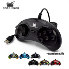 Dati Rana USB Classic Gamepad 6 Bottoni USB Gaming Joystick Supporto per PC MAC Drive Controller(China)