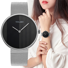 Women Watch  Fashion Rose Gold Luxury Brand Ultra Thin Stainless Steel Mesh Band Casual Quartz Watches Business  Wristwatches