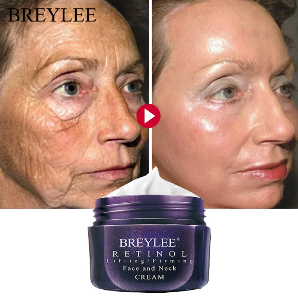 BREYLEE Retinol Firming Face Cream Lifting Neck Anti-Aging Removing Wrinkles Night Day Moisturizer Whitening Face Skin Care 40g 1