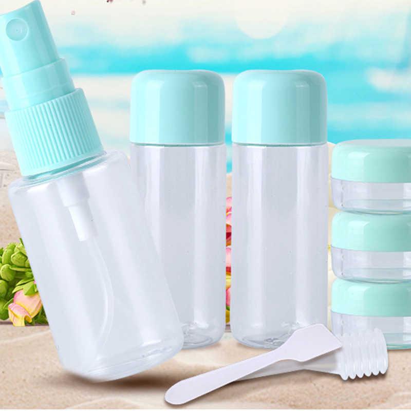 8Pcs/Set Travel Mini Makeup Cosmetic Face Cream Pot Bottles Plastic Transparent Empty Eyeshadow Make Up Container Bottle Storage