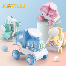 Toy Vehicle Pull Back Car Inertia Sliding Rail Car Macarons Color Train Vehicle Will Flip For Children Boys Kids Toys Gifts 6pcs set boy girl cute mini pull back car toys cartoon inertia pullback toy set truck vehicle for kids toddlers