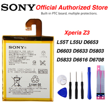 Original Sony LIS1558ERPC Battery For Sony Xperia Z3 L55T L55U D6653 D6603 D6633 D5803 D5833 D6616 D6708 3100mAh hot dock station charger with cable dk48 magnetic desktop for sony xperia z3 l55t d6603 d6643 d6653 z3 compact mini d5803 d5833