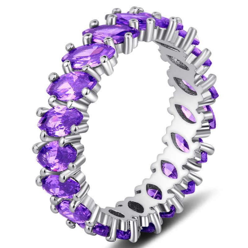 เงิน 925 เครื่องประดับเพชรแหวนสำหรับสุภาพสตรี Anillos อัญมณีมรกตและ Obsidian เพชร S925 แหวนกล่องเครื่องประดับ