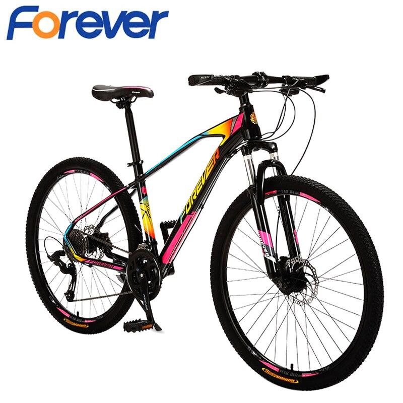 FOREVER-bicicleta de montaña para adultos T02b, bici de carreras con freno de disco hidráulico, con rueda de 26 pulgadas y 27 velocidades