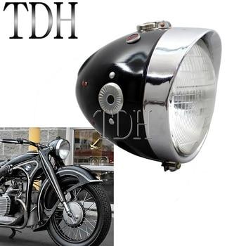 Ural Sidecar Cafe Racer Vintage Headlight Motorbike Front Running Lamp Head Lamp for BMW K750 KS750 R71 M72 Zündapp BW40 MW DB