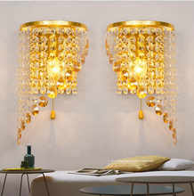 Led Wall Light Bedroom Crystal Led Wall Lamp Sconce Indoor Luminarias De Interior Modern LED Light Loft Bedside led Lighting  - DISCOUNT ITEM  15% OFF All Category