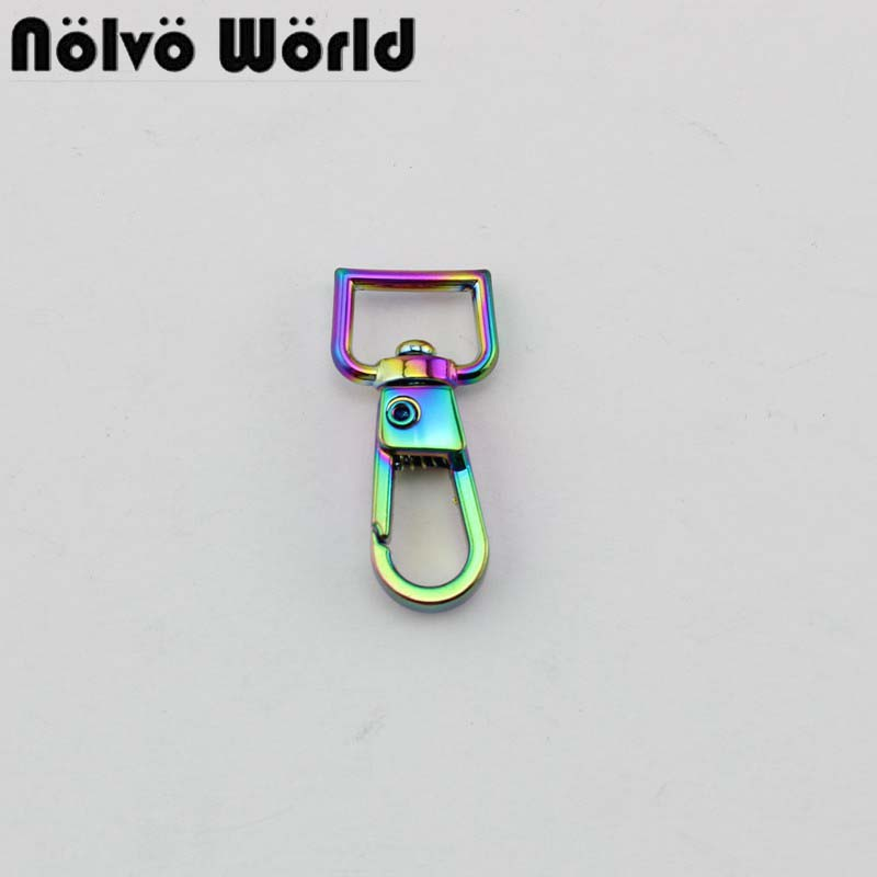 10-50pcs Fabulous Rainbow 11mm Trigger Snap Hook Small Swivel Clasp Lobster Claws Swivel Hooks Purse  Accessories Hardware