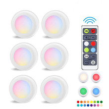 16 Colors LED Night Light Wireless Touch Dimmable Cabinet Bedroom Staircase Wardrobe Lights Battery Power