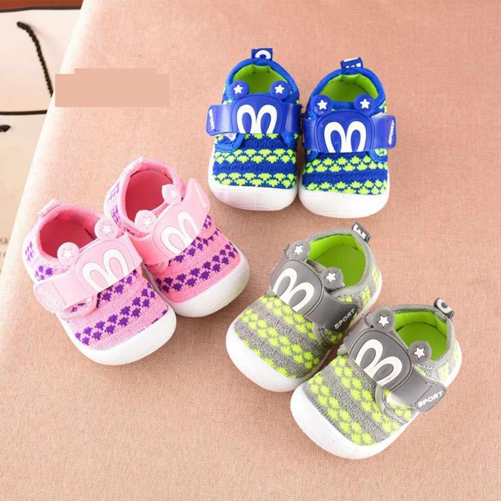 Orejas de conejo zapatos de dibujos animados niño pequeño niños con estrellas para bebés chirriantes zapatos sencillos zapatillas suaves antideslizantes zapatos para niños ayakkabi