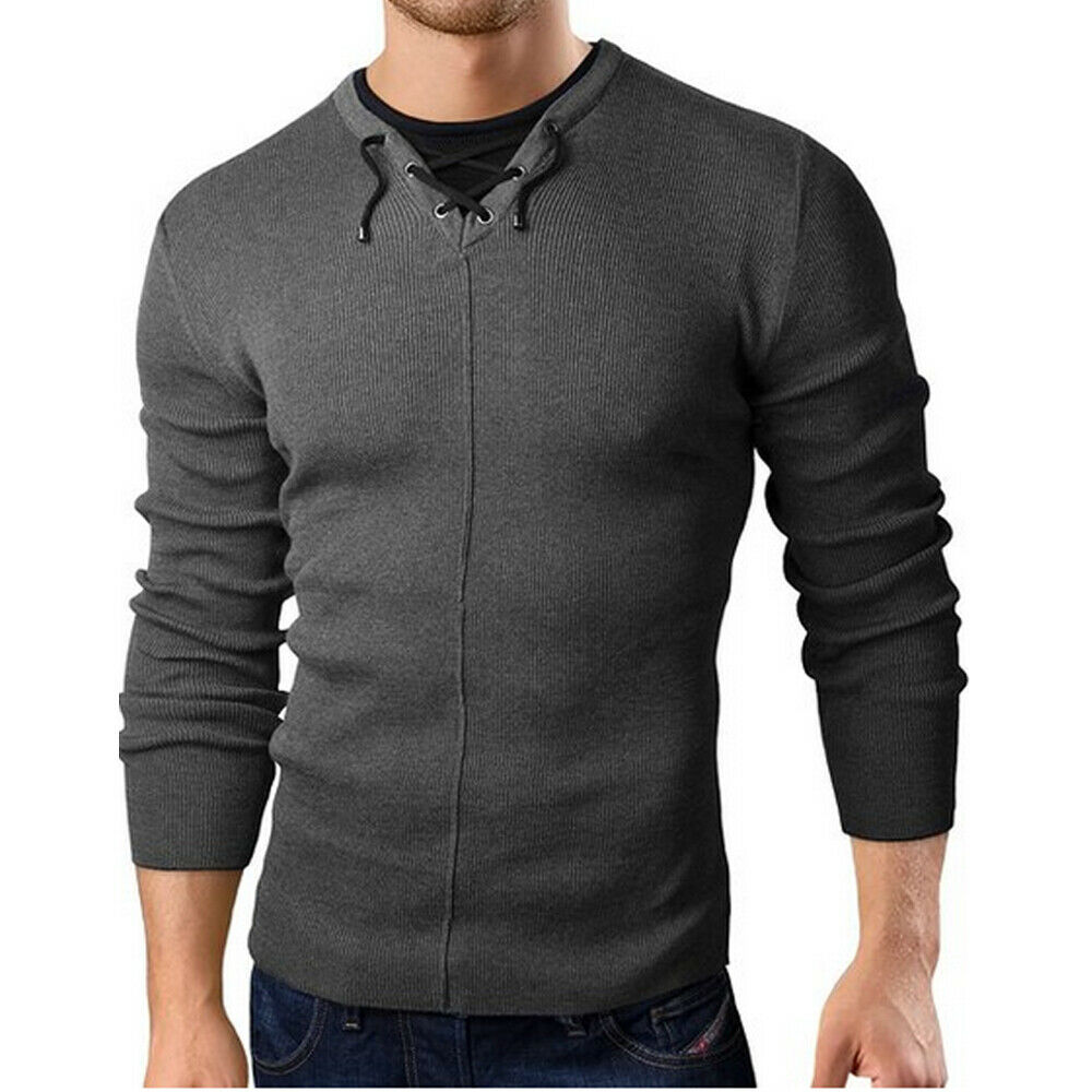 Pullover Sweaters Knitted Sweater Men's Fashion Winter Warm Long Sleeve Jumper Casual Slim Fit Sweatshirt Top