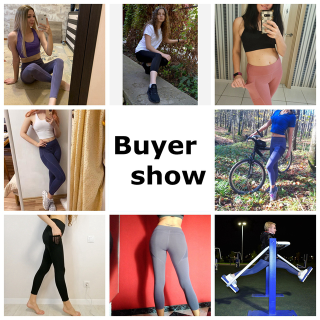 Yoga Pants Women with Pocket Plus Size Leggings Sport Girl Gym Leggings Women Tummy Control Jogging Tights Female Fitness pants 6
