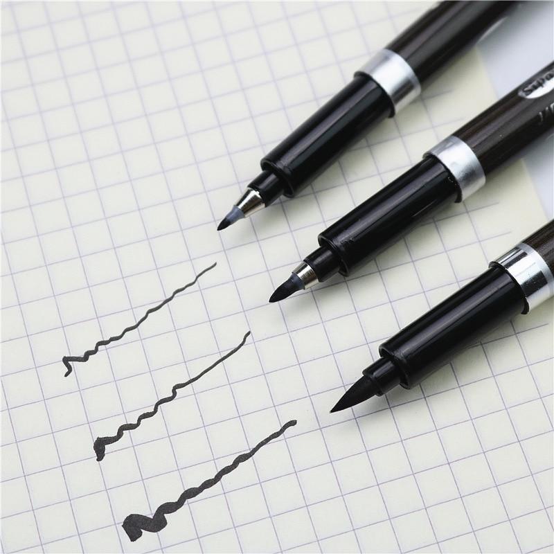 Stylo pinceau multifonction dessin traces pinceau marqueur étudiant pratiquant la calligraphie stylo 3 PCS/LOT ou 1 pièces peut choisir