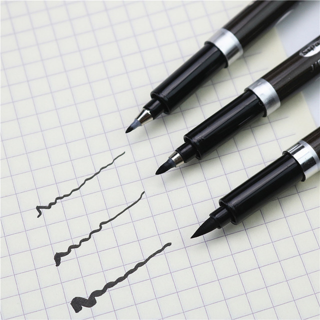 Multifunction brush pen drawing traces brush marker student practicing calligraphy pen 3PCS/LOT OR 1PCS can choose