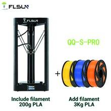 طابعة Flsun QQ S Pro دلتا ثلاثية الأبعاد عالية السرعة جديدة مفتاح تسوية تلقائي حجم طباعة كبير شاشة تعمل باللمس kossel ثلاثية الأبعاد