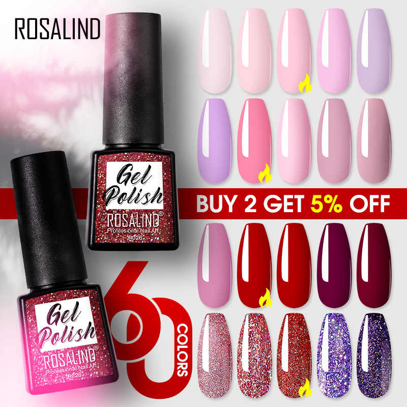 Rosalind Gel Polish Semi Permanente Uv Lamp Gel Vernissen Voor Nail Art Manicure Set Lak Nodig Base Top Coat Gel nagellak