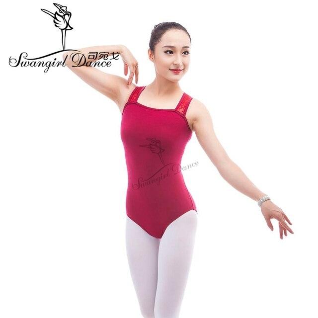 Justaucorps de ballet camisole adulte pour danse vêtements de ballet noir femmes justaucorps de gymnastique rouge vêtements ballerine femmeCS0315