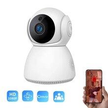 Mini indoor H.265 WIFI PT 1080P 2MP wireless onvif 128G TF card slot cloud storage home security network AP wifi camera