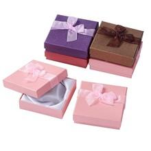12pçs caixa de presente de joias, pulseiras, brincos, colar, conjunto de jóias, caixa de embalagem redonda quadrada, estojos de cartão, misturados