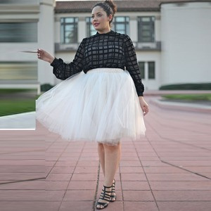 Image 2 - Summer Joker Tutu Skirt Women Plus Size Pleated  Green  Jupe Femme Faldas Rokken Custom Made 7 Layers Tulle  5XL