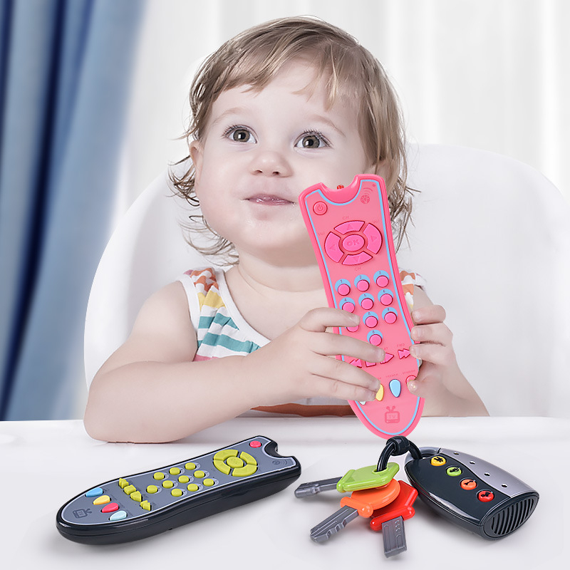 English French Spanish Baby Toys Music Mobile Phone TV Remote Control Early Educational Toys Electric Remote Learning Toy Gift