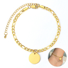 Name-Anklet Ankle-Jewelry-Length for Women Girls Figaro Link-Chain Casual Holiday Beach