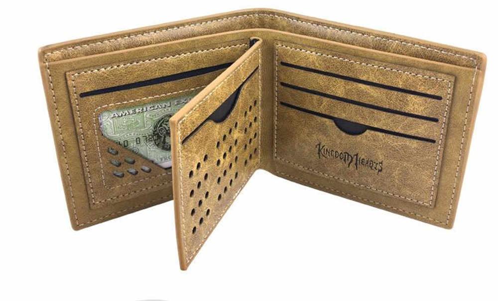 Anime Kingdom Hearts Mark pu deri cüzdan haki çok katmanlı kart tutucu çanta erkekler kadınlar için hediye A1073